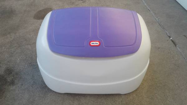 Backordered Little Tikes Toy Box with Purple Lid TOY CHEST FOR BOY Girl