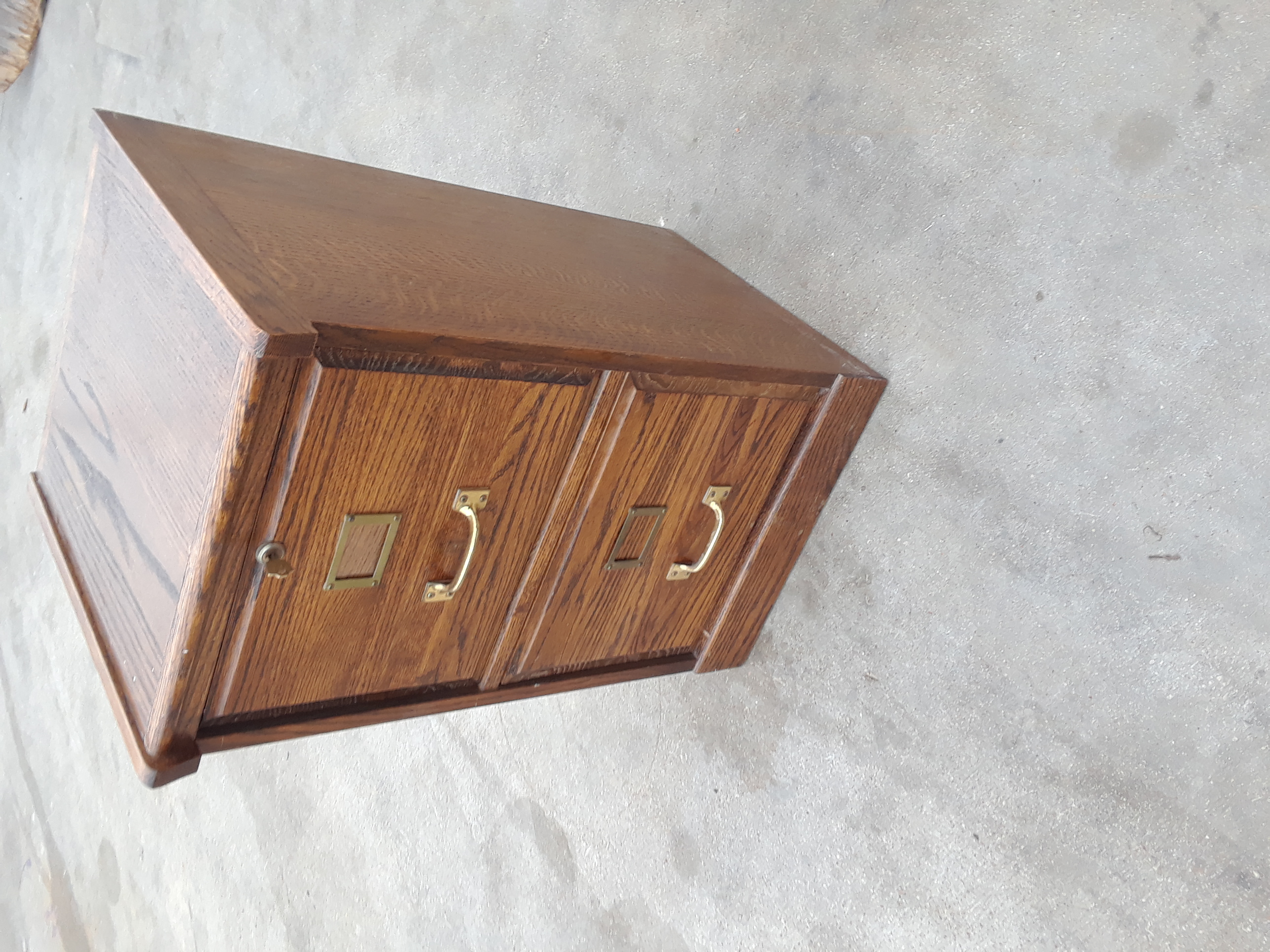 Solid Oak File Cabinet