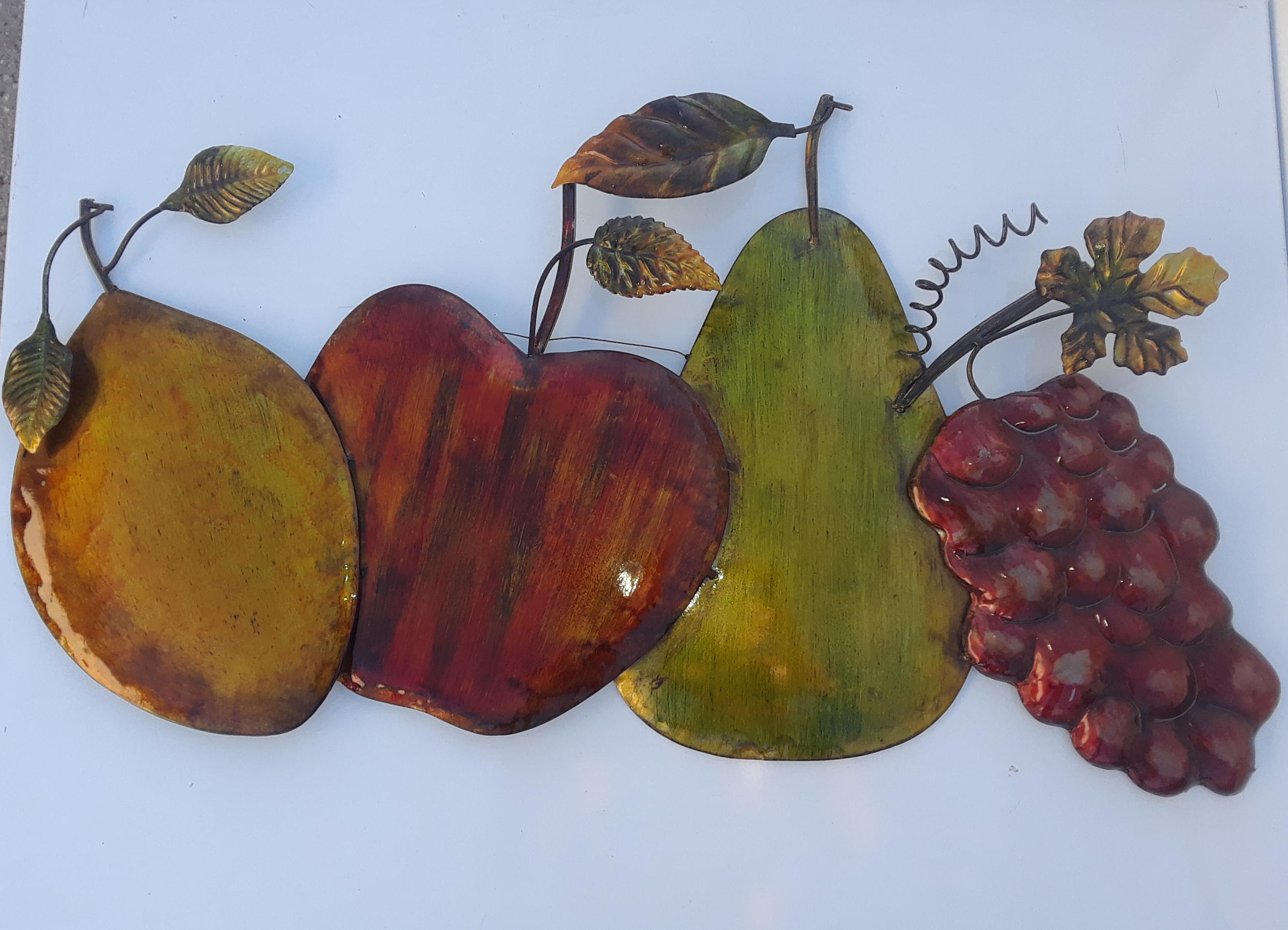 Wall Metal Plaque fruits 3ft long