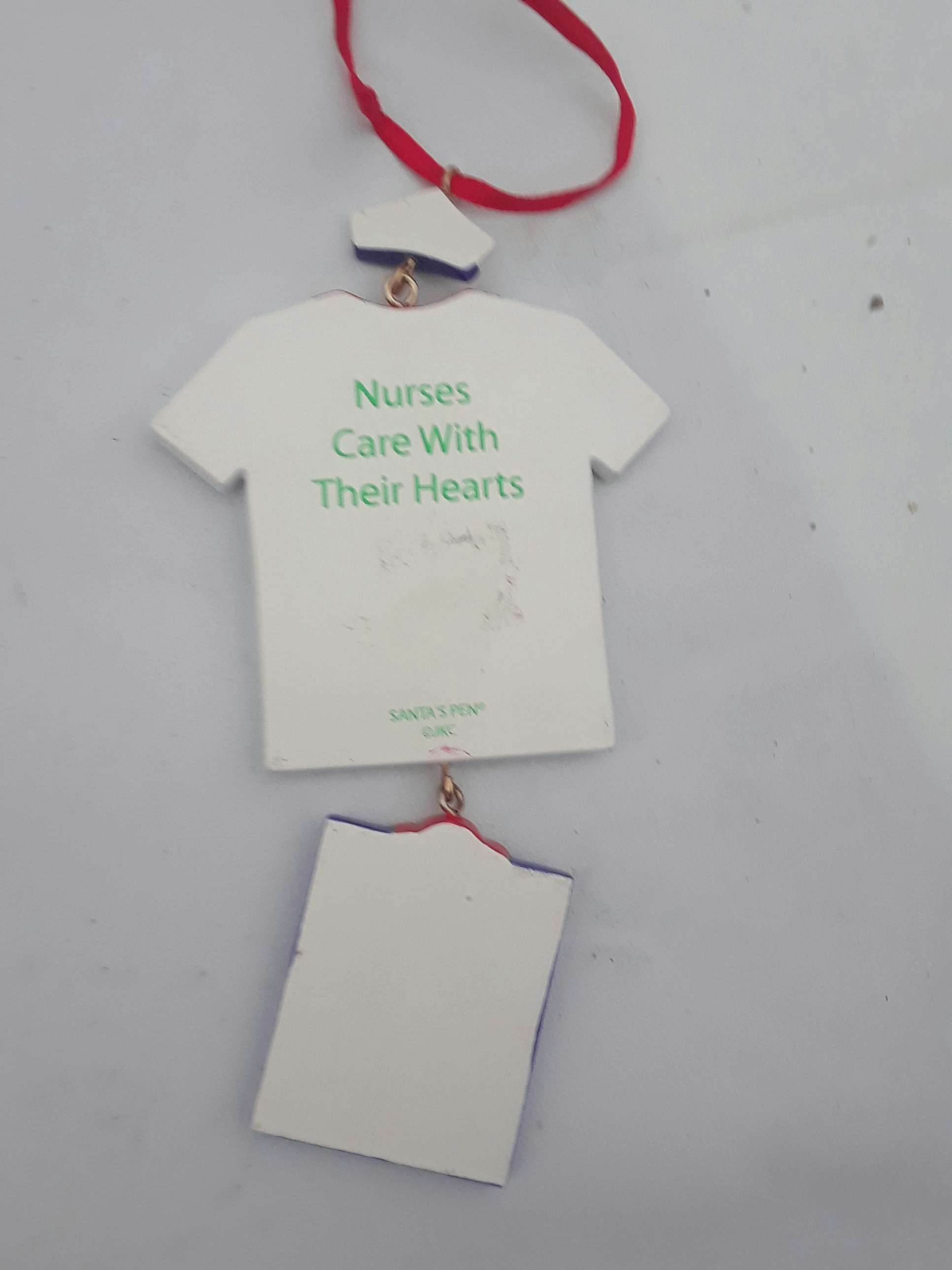 Nurses Care With Their Hearts Ornament by Santas Pen