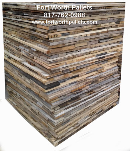 Wall-Covering 28-inch Reclaimed Pallet Boards
