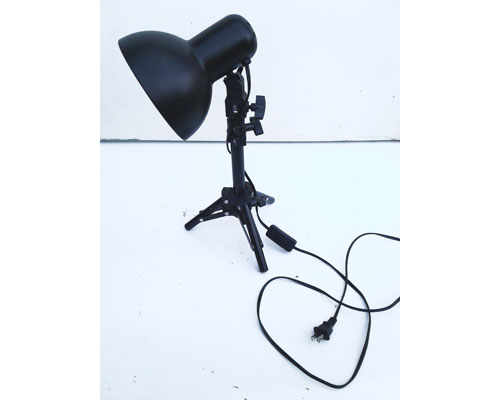 Black Metal Tripod Table Lamp with Adjustable Height
