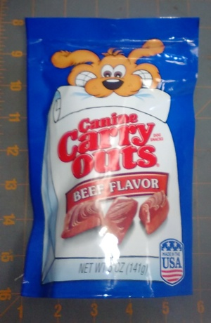 Canine Carry Outs Dog Snacks Beef Flavor