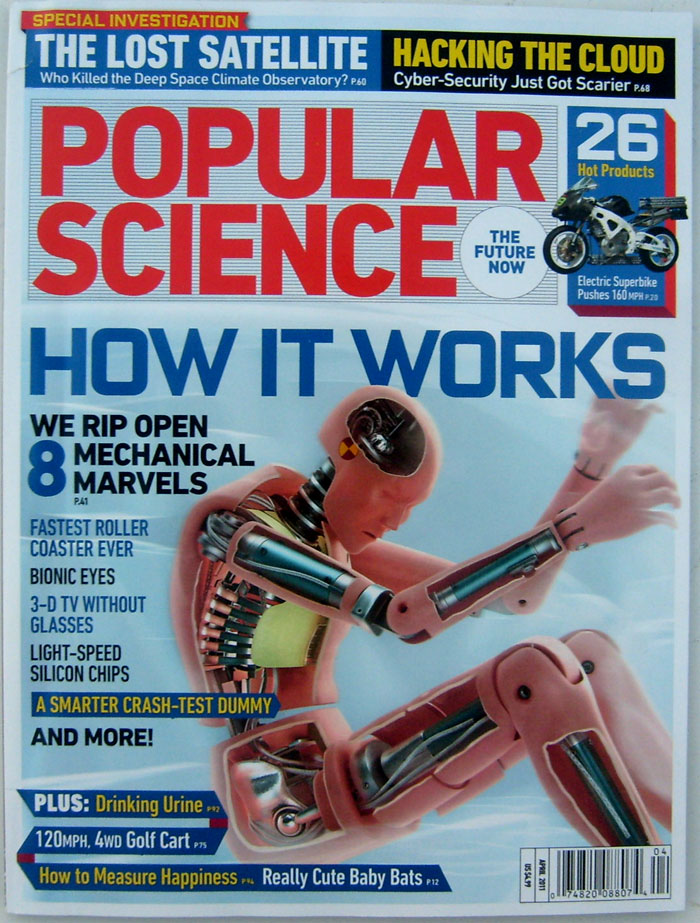 Popular Science Magazine April 2011 The Future Now