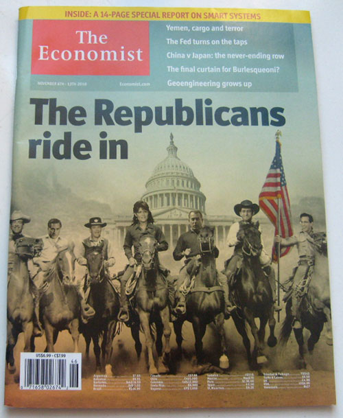 The Economist Magazine November 6th-12th 2010 Volume 397 Number 8707 (The Republicans Ride In)