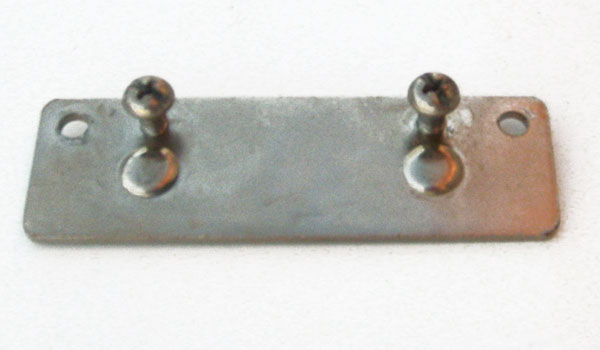 3-1/2X1 Rectangular Metal Bracket with 2 Bolts for Cribs with Rods