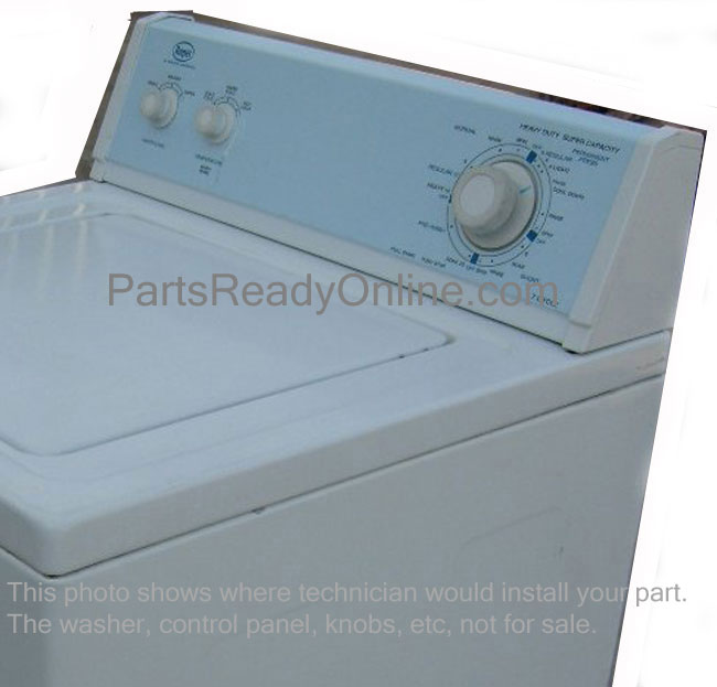 roper washer end cap  roper dryer control panel end cap  right endcap white