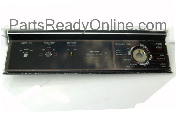 Kenmore Washer Control Panel 3361618 Aluminum Console
