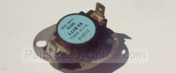 Dryer Hi Limit Thermostat 53-0771 L248-80F Admiral, Maytag Norge