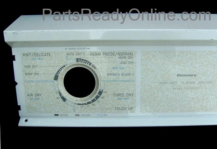 Kenmore Dryer Control Panel 70 Series Soft Heat Kenmore