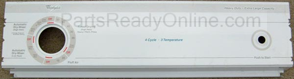 Whirlpool Dryer Control Panel for model LER4634EQ0 4 cycle 3 temperatures