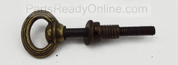 "OUT OF STOCK Brass Cradle Connector (Baby Cradle Hardware) 3.5"" Eyebolt with Washer and Threated Insert"