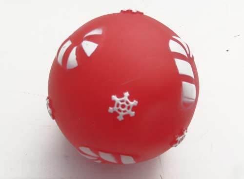 Squeaky Dog Ball Dog Rubber Toy RED