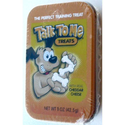 Talk To Me Doggie Treats with Real Cheddar Cheese 1oz