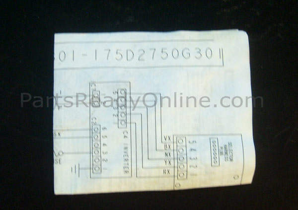 GE Washer Wiring Diagram 175D2750G301 PartsReadyOnline.comPartsReadyOnline.com