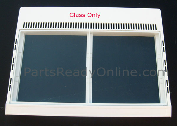"OUT OF STOCK $20 Refrigerator Glass Insert 24-5/8"" x 12-3/4"" for Crisper Cover 400181-2"
