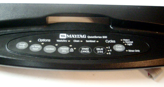 OUT OF STOCK $89 Maytag Dishwasher Control Panel 6-919806 (replaces 99003376)
