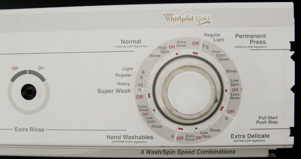 Whirlpool Washer Control Panel 3953177 White