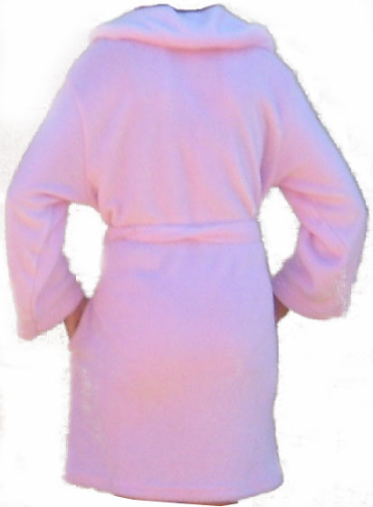 Pink Women Spa Robe Ultra Soft Hi-Tech Micro Plush Size LARGE X-LARGE