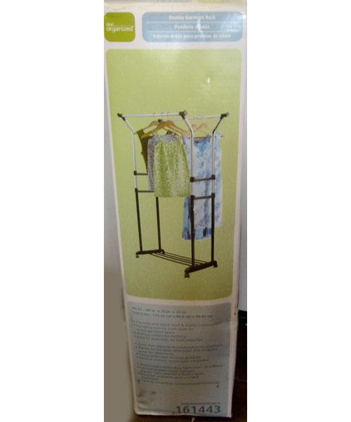 Double Garment Rack 45/69 in. x 35 in. x 23 in. Item 161443 Clothes Rack with Rollers (Real Organized)