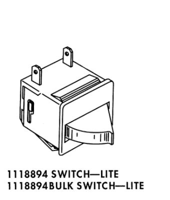 Whirlpool Refrigerator Light Switch 1118894 (ET21GMXHW02)